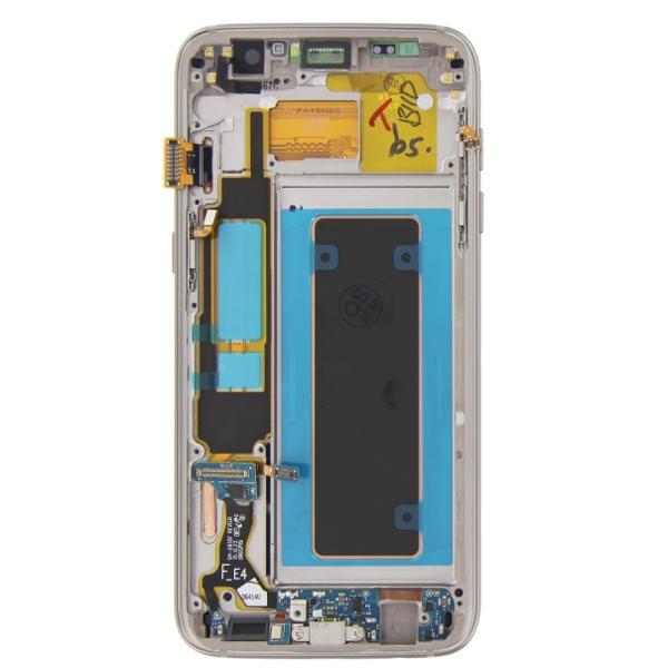 Γνήσια Original Samsung Galaxy S7 Edge G935F G935 Οθόνη LCD + Touch Screen Μηχανισμός Αφής Gold GH97-18533C