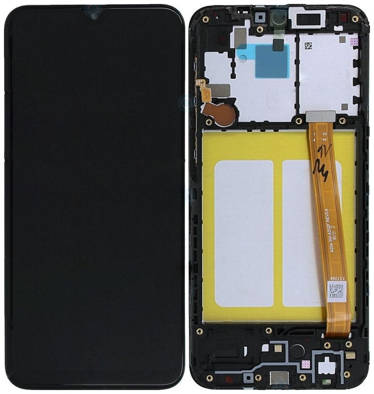 Γνήσια Original Samsung Galaxy A20e 2019 (SM-A202F) Οθόνη LCD Display Screen + Touch Screen DIgitizer Μηχανισμός Αφής + Frame Πλαίσιο GH82-20186A Black