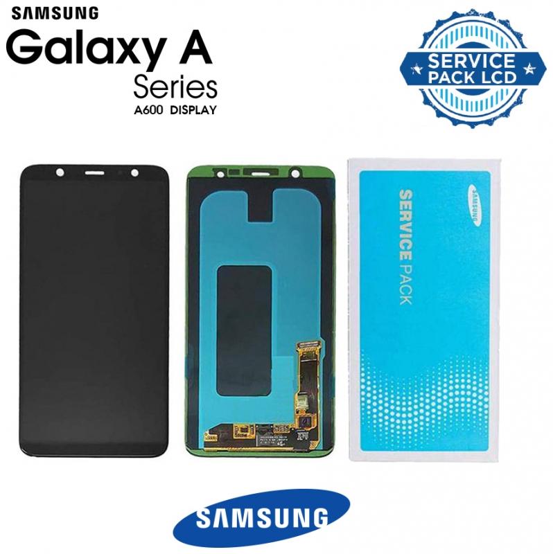 Γνήσια Original Samsung GALAXY A6 2018- A600FN Amoled Οθόνη LCD Display Screen + Touch Screen Digitizer Μηχανισμός Αφής Black GH97-21897A