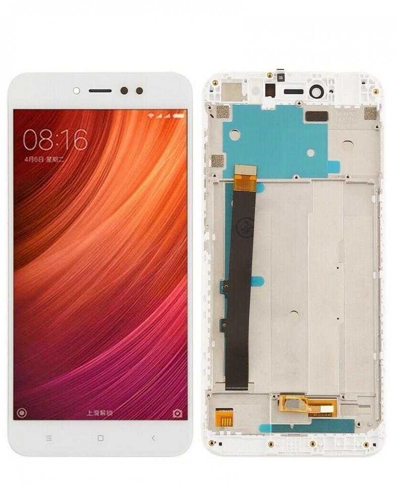 OEM HQ  Xiaomi Redmi Note 5A Prime Lcd Display Screen Οθόνη + Touch Screen Digitizer Μηχανισμός Αφής+ Frame Πλαίσιο White (Grade AAA+++)