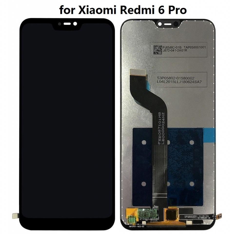 OEM HQ Xiaomi MiA2 Mi A2 Lite  Redmi 6 Pro Display Assembly Screen Οθόνη + Touch Screen Digitizer Μηχανισμός Αφής Black