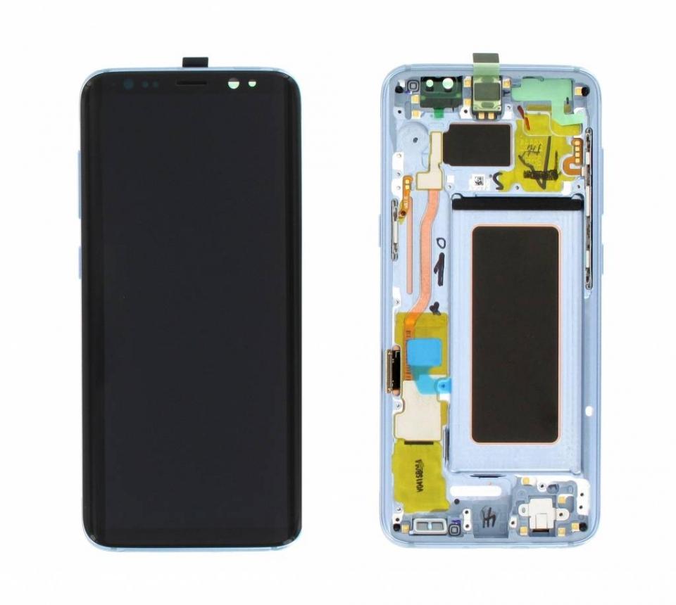Γνήσια Original Samsung Galaxy S8 G950F G950 Οθόνη LCD Display Screen + Touch Screen DIgitizer Μηχανισμός Αφής + Frame Πλαίσιο Blue GH97-20457D