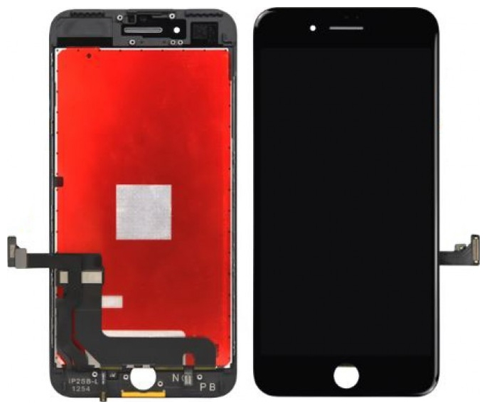Γνήσια Original Iphone 8 Plus Lcd Display Οθόνη + Digitizer Touch Screen Οθόνη Αφής Μαύρο Black (Pulled By Foxconn)