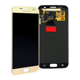 Γνήσια Original Samsung Galaxy S7 G930F G930 Οθόνη LCD Display Screen + Touch Screen Digitizer Μηχανισμός Αφής Gold GH97-18523C