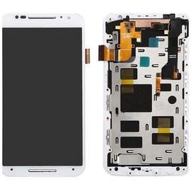 HQ OEM Motorola MOTO X+1 X2 XT1092 XT1095 Lcd Display Screen Οθόνη + Touch Screen Digitizer Μηχανισμός Οθόνη Αφής White