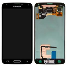 Γνήσια Original Samsung Galaxy S5 SM-G900F G900, S5 Plus SM-G901F G901 Οθόνη LCD + Touch Screen Μηχανισμός Οθόνης Αφής Black - Blue GH97-15959B