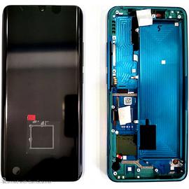Γνήσια Original Xiaomi Mi Note 10 Super Amoled Lcd Display Assembly Screen Οθόνη + Touch Screen Digitizer Μηχανισμός Αφής + Frame Πλαίσιο Σασί Green (Service Pack By Xiaomi) 56000100F400