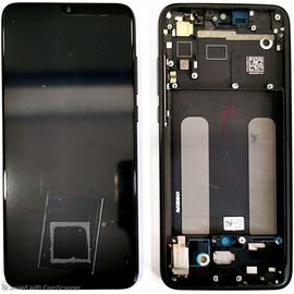 Γνήσιο Original Xiaomi Mi 9 Lite, Mi9 Lite Amoled LCD Display Screen Οθόνη + Touch Screen Digitizer Μηχανισμός Αφής + Frame Πλαίσιο Black (Service Pack By Xiaomi)