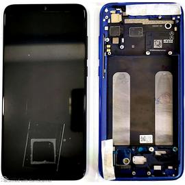 Γνήσιο Original Xiaomi Mi 9 Lite, Mi9 Lite Amoled LCD Display Screen Οθόνη + Touch Screen Digitizer Μηχανισμός Αφής + Frame Πλαίσιο Blue (Service Pack By Xiaomi)