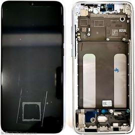Γνήσιο Original Xiaomi Mi 9 Lite, Mi9 Lite Amoled LCD Display Screen Οθόνη + Touch Screen Digitizer Μηχανισμός Αφής + Frame Πλαίσιο White (Service Pack By Xiaomi)