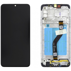 Γνήσια Original Samsung Galaxy A20s 2019 (SM-A207F) Οθόνη LCD Display Screen + Touch Screen DIgitizer Μηχανισμός Αφής + Frame Πλαίσιο GH81-17774A Black