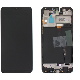 Γνήσια Original Samsung Galaxy A10 2019 (SM-A105F) Οθόνη LCD Display Screen + Touch Screen DIgitizer Μηχανισμός Αφής + Frame Πλαίσιο GH82-20227A Black