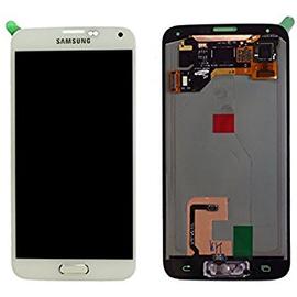 Γνήσια Original Samsung Galaxy S5 SM-G900F G900, S5 Plus SM-G901F G901 Οθόνη LCD + Touch Screen Μηχανισμός Οθόνης Αφής White GH97-15959A