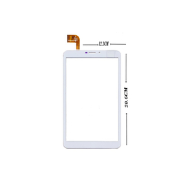 Γνήσιο Original MLS iQTab IQ8130 Focus 3G FPC-FC80J196-00 Tablet 8'' Touch Screen Digitizer Μηχανισμός Αφής Τζάμι White
