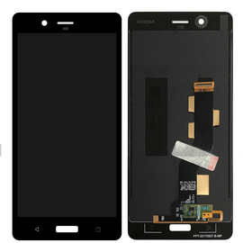 OEM HQ Nokia 8, Nokia8 (TA-1012) Dual Sim (TA-1004) LCD Display Screen Οθόνη + Touch Screen Digitizer Μηχανισμός Αφής Black (Grade AAA+++)