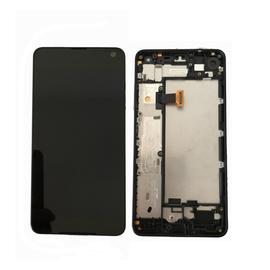Original Nokia 650 Lumia  LCD Display Οθόνη + Touch Screen Μηχανισμός Αφής + Front Cover Black