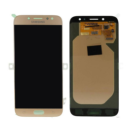 Γνήσια Original Samsung J7 2017 J730 SM-J730F Οθόνη Amoled LCD Display Screen + Touch Screen Digitizer Μηχανισμός Αφής GH97-20736C Gold (Service Pack By Samsung)