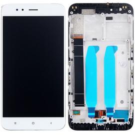 Γνήσια Original Xiaomi Mi 5X/Mi A1 MiA1 LCD Display Οθόνη + Touch Screen Digitizer Μηχανισμός Αφής + Frame Πλαίσιο White