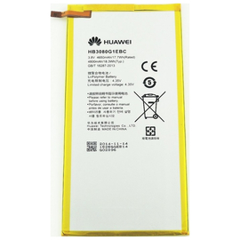 Γνήσια Original Huawei MediaPad M2 8 S8-701U, T1-821W 823l M2-803L Honor S8-701W Mediapad M1 8 Μπαταρία Battery 4650mAh Li-Pol (Bulk) (GRADE A) HB3080G1EBW HB3080G1EBC