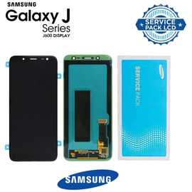 Γνήσιο Original Samsung Galaxy J6 2018 (SM-J600F) Amoled Οθόνη LCD Display Screen+ Touch Screen Μηχανισμός Αφής Black GH97-21931A (Service Pack)
