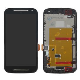 Γνήσιο Original Motorola MOTO G2 G+1 XT1063 XT1068 Lcd Display Screen Οθόνη + Touch Screen Digitizer Μηχανισμός Αφής + Frame Πλασιο Black