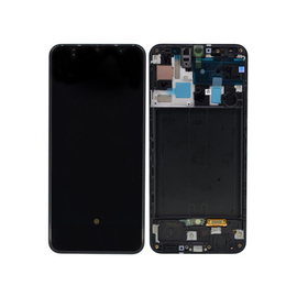 Γνήσια Original Samsung Galaxy A50 2019 (SM-A505F) Οθόνη LCD Display Screen + Touch Screen DIgitizer Μηχανισμός Αφής GH82-19204A Black