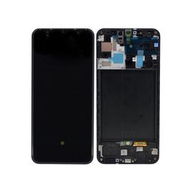 Γνήσια Original Samsung Galaxy A50 2019 (SM-A505F) Super AMOLED Οθόνη LCD Display Screen + Touch Screen DIgitizer Μηχανισμός Αφής + Frame Πλαίσιο GH82-19204A, GH82-19713A Black