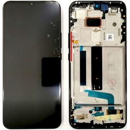 Γνήσια Original Xiaomi Mi 10 Lite, Mi10 Lite, Super Amoled Lcd Display Assembly Screen Οθόνη + Touch Screen Digitizer Μηχανισμός Αφής + Frame Πλαίσιο Σασί Black (Service Pack By Xiaomi)