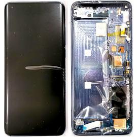 Γνήσια Original Xiaomi Mi 10 PRO, Mi10 PRO, (Samsung Super Amoled) Lcd Display Assembly Screen Οθόνη + Touch Screen Digitizer Μηχανισμός Αφής + Frame Πλαίσιο Σασί White (Service Pack By Xiaomi)