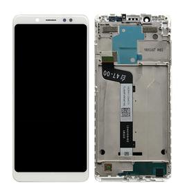 Γνήσια Original Xiaomi Redmi Note 5, Note 5 Pro Lcd Screen Display Οθόνη + Touch Screen Digitizer Μηχανισμός Αφής+ Frame Μεσαίο Πλαισιο White (Service Pack By Xiaomi)