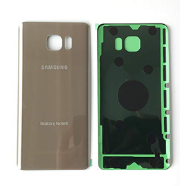 OEM HQ Samsung Note 5 N920c Καπάκι Μπαταρίας Battery Back Cover Gold