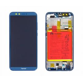 Γνήσιο Original Huawei Honor 9 Lite Dual Sim (LLD-L31 LLD-AL00 LLD-AL10 LLD-TL10,LLD-L31A) Lcd Screen Display Οθόνη + Touch Screen Digitizer Μηχανισμός Αφής + Πλαίσιο Frame Bezel  02351SNQ Blue