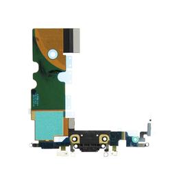 OEM HQ Apple Iphone 8 Dock Charger Flex Καλωδιοταινία Κονέκτορα Φόρτισης Μαύρο Black (Grade AAA+++)
