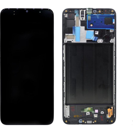 Γνήσια Original Samsung Galaxy A70 2019 (SM-A705FN) Οθόνη LCD Display Screen + Touch Screen DIgitizer Μηχανισμός Αφής GH82-19747A Black