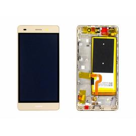 Γνήσια Original Huawei P8 Lite ALE-L21 Οθόνη LCD Screen + Touch Screen Digitizer Μηχανισμός Αφής Gold 02350KGP