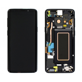 Γνήσια Original Samsung Galaxy S9 Plus SM-G965F G965 Οθόνη LCD Display Screen + Touch Screen DIgitizer Μηχανισμός Αφής + Frame Πλαίσιο Black GH97-21691A