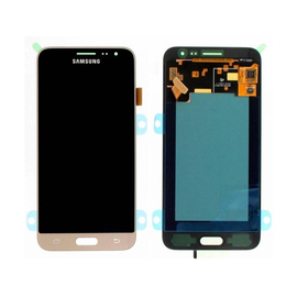 Γνήσια Original Samsung J320 Galaxy J3 2016 LCD display Οθόνη + Touch Screen Μηχανισμός Αφής GH97-18414B Gold