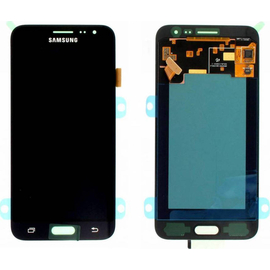 Γνήσια Original Samsung J320 Galaxy J3 2016 Amoled LCD display Screen Οθόνη + Touch Screen Digitizer Μηχανισμός Αφής GH97-18414C Black