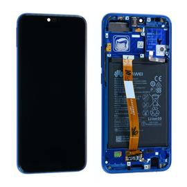 Γνήσιο Original Huawei Honor 10 COL-L29 Lcd Screen Display Οθόνη + Touch Screen Digitizer Μηχανισμός Αφής + Πλαίσιο Frame Bezel Blue 02351XBP
