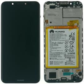 Γνήσιο Original Huawei Y7 Prime 2018 / Y7 Prime (LDN-L01, LDN-L21) HONOR 7C (AUM-L41) LCD Display Assembly Οθόνη + Touch Screen Digitizer Μηχανισμός Αφής + Frame Πλαίσιο + Μπαταρία Battery 02351USA Black (Service Pack By HONOR)