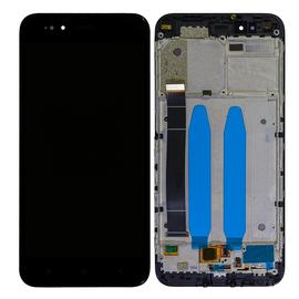 OEM HQ Xiaomi Mi 5X/Mi A1 MiA1 LCD Display Οθόνη + Touch Screen Digitizer Μηχανισμός Αφής + Frame Πλαίσιο Black