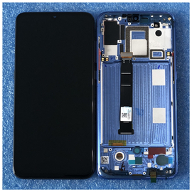 Γνήσιο Original Xiaomi Mi 9 Mi9 Amoled LCD Display Screen Οθόνη + Touch Screen Digitizer Μηχανισμός Αφής + Frame Πλαίσιο Blue