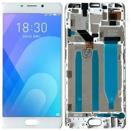 Γνήσιο Original Meizu M6 Note Οθόνη LCD Display Screen + Touch Screen Digitizer Μηχανισμός Οθόνης Αφής+ Frame Πλαίσιο M721H White