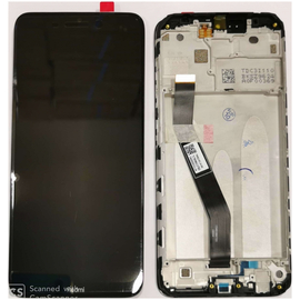 Γνήσια Original Xiaomi Redmi 8, Redmi 8A Lcd Screen Display Οθόνη + Touch Screen Digitizer Μηχανισμός Αφής + Frame Πλαίσιο Bezel Black Μαύρο (Service Pack By Xiaomi)