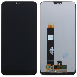 OEM HQ Nokia 7,1 (TA-1100, TA-1097, TA-1085, TA-1095, TA-1096) LCD Display Screen Οθόνη + Touch Screen Digitizer Μηχανισμός Αφής Black
