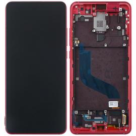 Γνήσιο Original Xiaomi Mi 9T Pro Mi9T Pro Amoled LCD Display Screen Οθόνη + Touch Screen Digitizer Μηχανισμός Αφής + Πλαίσιο Frame Red